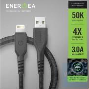 Energea - FibraTough USB-A to Lightning 快速充電線 1.5米 銀離子抗菌線