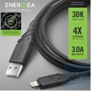 Energea - DuraGlitz 銀離子抗菌線快速充電 USB-A to Lightning 線 1.5米