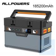AllPower - 便攜式多功能戶外應急電源 185200mAh AC便攜式充電器 500W