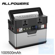 AllPower - 便攜式多功能戶外應急電源 100500mAh AC便攜式充電器 300W