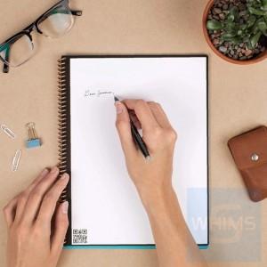 Rocketbook - Fusion | 7 Styles | Letter A4 8.5 x 11 inch | 42 pages | Pilot FriXon Pen x 1 | Microfiber Towel x 1