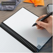 Rocketbook - Fusion | 7 Styles | Executive A5 6 x 8.8 inch | 42 pages | Pilot FriXon Pen x1 | Microfiber Towel x1