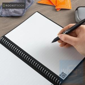 Rocketbook - Fusion | 7 Styles | Executive A5 6 x 8.8 inch | 42 pages | Pilot FriXon Pen x1 | Microfiber Towel x1