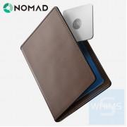 Nomad - 帶有磁貼跟踪功能傳統護照錢包 標準版 棕色