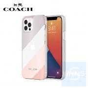 """Coach - 斜條紋金屬 iPhone 12 / 12 Pro - 6.1"""" 透明保護套"""