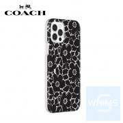 """Coach - 花卉黑色/透明 iPhone 12 / 12 Pro - 6.1"""" 全包邊保護套"""