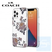 """Coach - 喜怒無常全包邊 iPhone 12 / 12 Pro - 6.1"""" 透明防撞底殼"""
