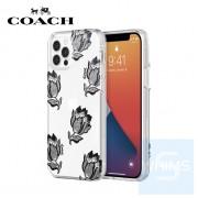 """Coach - 沙漠鬱金香黑/銀色閃光 全包邊 iPhone 12 / 12 Pro - 6.1"""" 保護套"""
