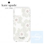"Kate Spade - 蜀葵花 透明/奶油 iPhone 12 / 12 Pro 6.1"" 保護硬殼"