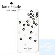"Kate Spade - 散花黑色/白色/金色寶石/透明/白色 iPhone 12 / 12 Pro 6.1"" 保護硬殼"