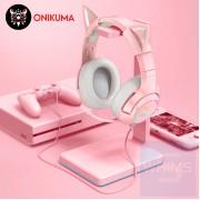Onikuma 鬼熊 - 7.1聲道(RGB)耳機麥克風 - USB 粉紅 - USB 插頭