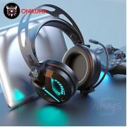 Onikuma 鬼熊 - M180PRO 7.1聲道+USB 電競級LED耳機麥克風 - 黑色