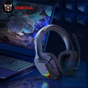 Onikuma 鬼熊 - K20 電競級 (RGB變色) 耳機麥克風- 黑色