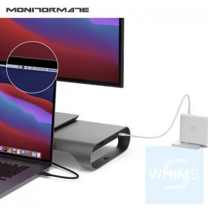 Monitormate - ProBASE GEN2 鋁製 USB多功能螢幕架 (北歐銀/灰色)