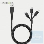 Energea - NyloFlex 3-in-1 Lightning + USB-C + Micro-USB 線 1.5米