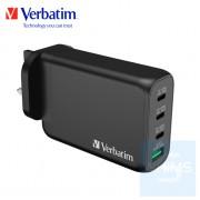 Verbatim - 4 Port 130W PD 3.0 & QC 3.0 GaN USB充電器