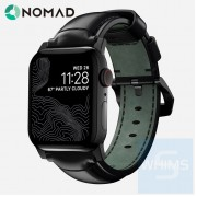 Nomad - Shell Cordovan Band 美國 Horween 真皮時尚44/42MM *黑色限量版錶帶