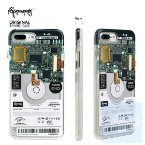 PAPERWORKS 電腦硬盤 包邊殼 for iPhone 7/8 Plus & X